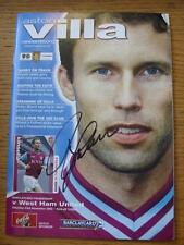 23/11/2002 Aston Villa v West Ham United [Autographed On Cover By Ronny Johnsen]