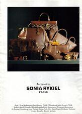 PUBLICITE advertising  2000 Sonia Rykiel  Sacs Chaussures Accessoires
