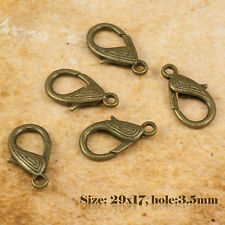 5 Antique Vintage Style Bronze Homard Fermoirs 005