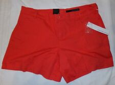 Calvin Klein Jeans Shorts 14 Womens NWT New Citrus Spark Flat Front