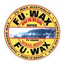 LOT OF 10 UNITS OF FU WAX WARM – SURF WAX, SURFBOARD WAX, SURFING WAX