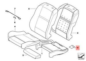 Genuine BMW X5 E70 E71 Front Seat Reinforcement Cover Repair Kit OEM 52107302024