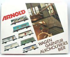 Arnold 0230, 7-teiliges Bierwagen-/Kühlwagenset alkoholfreies Bier ***Spur N ***