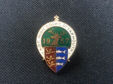 1957 AOF Ancient Order of Foresters Great Yarmouth High Court Enamel Badge Pin