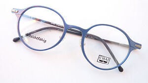 Chai blaue Brille runde Brillenfassung leicht Markenfassung Pantobrille Gr. L