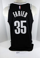2018-19 Brooklyn Nets Kenneth Faried  #35 Game Used Black Jersey vs 76ers 2 pts