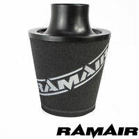 Ramair Black Medium Aluminium Induction Air Filter Universal 80Mm Od Neck