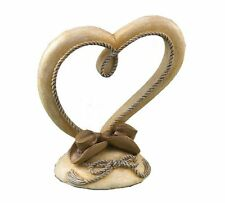 Country Flair Western Theme Cowboy Hat Resin Heart Wedding Cake Topper Decor New