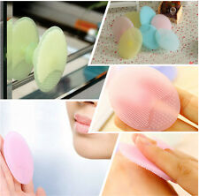 1X Silicone Oval Blackhead Remover Facial Brush Cleansing Pad Skin Care Beauty P