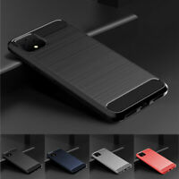 For Google Pixel 5 4A 5G 4 XL 3a XL 2 XL Shockproof Fiber Carbon TPU Cover Case