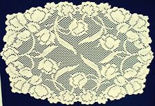 Dutch Garden Placemats 14x19 Ivory Set Of (4) Lace Placemats Oxford House NWOT