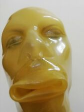 Latexmaske MH, Reißverschluß, Latex-Maske, rubber mask zip, MH- transp.0,8