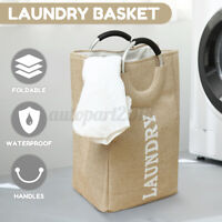 Oxford Laundry Washing Dirty Clothes Bin Foldable Storage Bag Basket Hamper