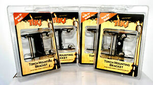 TIKI Brand Torch Mounting Bracket Mounts Torches or Flags to Deck Lot Of 4.