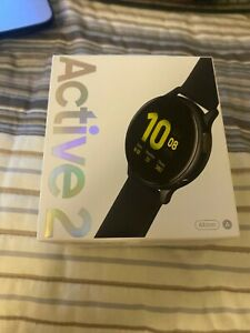 NEW SAMSUNG GALAXY ACTIVE 2 WATCH ( BLACK ) 44M FACTORY SEALED SM-R820NZKAXAR