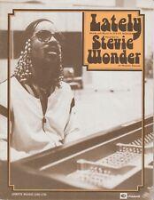 Lately - Stevie Wonder - 1980 Sheet Music