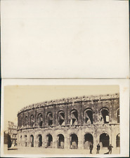 France, amphithéâtre de Nîmes Vintage CDV albumen carte de visite CDV, tirag
