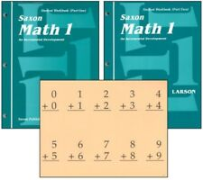 Math education textbooks ebay saxon math 1 student workbooks fact cards set homeschool 1st edition 1st grade fandeluxe Choice Image