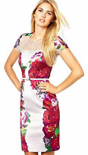 Womens Coast Floral Print Lace Dress Multi Size UK 10 Wedding Guest Occasion