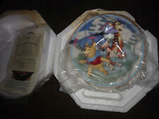 bradford exchange winnie the pooh swirly twirly fun collectible plate