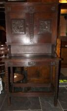 Oak Arts & Crafts Original Antique Cabinets