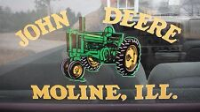 "JOHN DEERE A,B,G,50,60,70. WINDOW DECAL. CUSTOM MADE VINYL. 6"" x 11 1/2"""