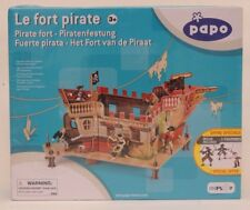 Papo Piratenfestung mit Figuren 3 Piraten mit Pistole und Säbel NEU OVP