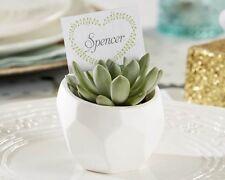 60 White Succulent Garden Pot Place Card Holder Wedding Shower Party Favors