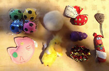 Cat Exercise 13 Toys Balls Catnip Stuffers Chewing Cats Running Feline Toys Lot