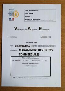 📝Livret 2 VAE BTS MUC/MCO + Préparation à l'oral Diplome OBTENU