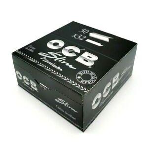 OCB Slim Premium Noir - 1 boite/box de 50 carnets de 32 feuilles à rouler OCB