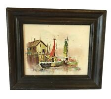 PG Tiele Original Oil Painting on Canvas Framed Oil Painting Nautical