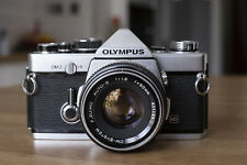 Olympus OM-2 35mm SLR Zuiko Auto S 50mm f1.8 Lens - with case - lovely condition