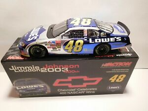JIMMIE JOHNSON, 1/24 ACTION 2004 MONTE CARLO # 48 LOWES CHEVROLET 400 WINS