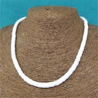 "Hawaiian Casual 12~33"" White Chipped Puka Sea Shell Necklace Surfer Shell Choker"