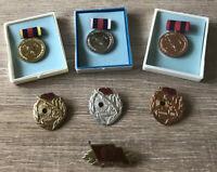 DDR Set Orden Abzeichen Medaille Ehrenzeichen Feuerwehr GST NVA