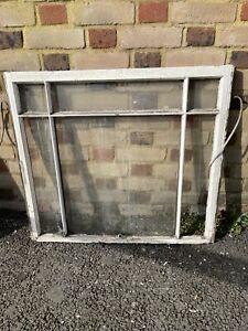 Reclaimed Old Edwardian 6 Panel Wooden Panel Sash Window