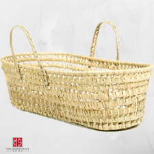 Organic Palm Leaf Moses Basket Baby Bassinets Nursery Storage Decor Natural New