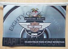 Wimpelkette original Harley 1997, 95th Anniv. & Miller beer, 92 Kunstoffwimpel