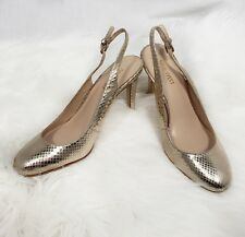 Nine West Womens Shoes 7 Holiday Slingback Gold New