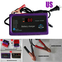 12/24V 200AH Microcomputer Repair Battery Charger LCD Display For Car Motorcycle