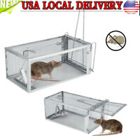 Humane Rat Trap Cage Live Animal Pest Rodent Mice Mouse Catch Useful Home Silver