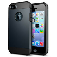For Apple iPhone 4s 5s SE Shockproof Rugged Rubber Silicone Hard Case Cover Skin