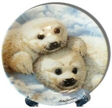 Baby Seals Beauty of Polar Wildlife Mike Jackson  Collectors Plate D3302 Vintage