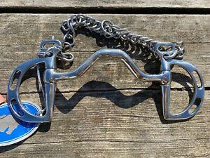 "5"" Robart pinchless Kimberwick English bit w/curb chain Stainless steel"