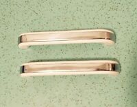 """Lot Of 2 NOS Plastic White and Chrome Handle Pulls 6.5"""" Long"""