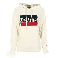 (tg. Xs) Levi's Graphic Sport hoodie Felpa Donna Bianco (sportswear Hoodiee ma