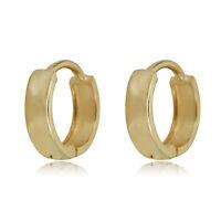 10K Yellow Gold Classic Huggie Hoop Earrings