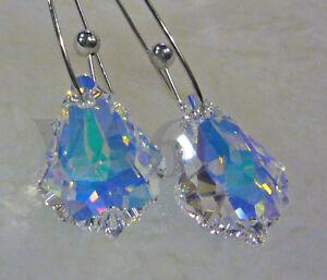 Crystal Baroque 6090 22mm Earrings Chandelier Dangle Drop Bridal Anting Kristal