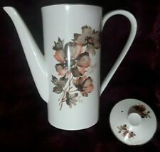 A RARE Vintage Lord Nelson Pottery 8 inch Tall Coffee Pot 'WHISPER' Pattern VGC